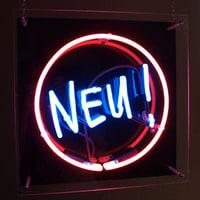 Beispiel Neonreklame-NEU und Ring-mehrfarbiges Neondisplay in Acrylkassette