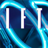 Beispiel Neonbuchstaben Leuchtschrift - Ausschnitt 17 - Detail eines blau leuchtenden Neonteiles