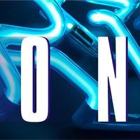 Beispiel Neonbuchstaben Leuchtschrift - Ausschnitt 12 - Detail eines blau leuchtenden Neonteiles