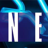 Beispiel Neonbuchstaben Leuchtschrift - Ausschnitt11 - Detail eines blau leuchtenden Neonteiles