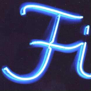 Leuchtbuchstaben-LED-Profilbuchstaben-Neon-Foto Fi (blau leuchtendes Neonrohr)