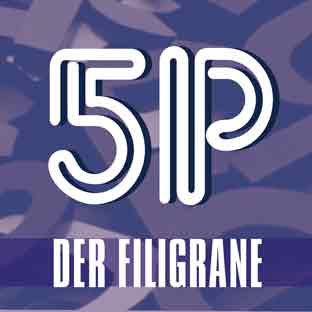 Leuchtbuchstaben-LED-Profilbuchstaben-Neon-Deckblatt DER FILIGRANE
