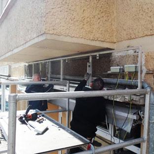 Projekt Locke&Glatze (Montage der neuen Unterkonstruktion)