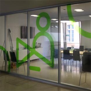 Greenman - grüne transluzente Folien im Innenbereich