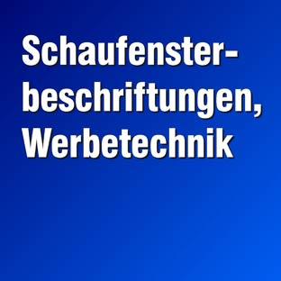 Schaufensterbeschriftungen, Werbetechnik (Deckblatt-blau)